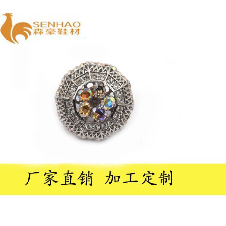 厂家定制新款时尚钻扣 金属镶彩色钻石女鞋饰扣 森豪厂家生产各种金属钻扣