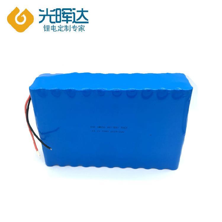 光晖达工厂加工44Ah锂电池组11.1V串联并联加保护板加线 电动车 医疗设备18650锂电池定制