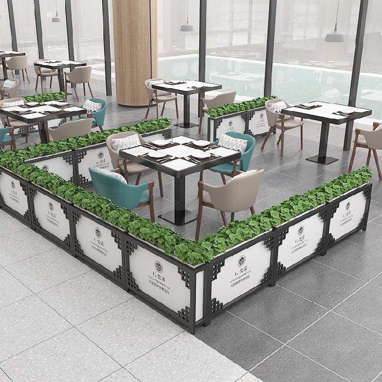 商業街室外鐵藝戶外花架花箱隔斷花槽落地長方形庭院種植花壇花盆