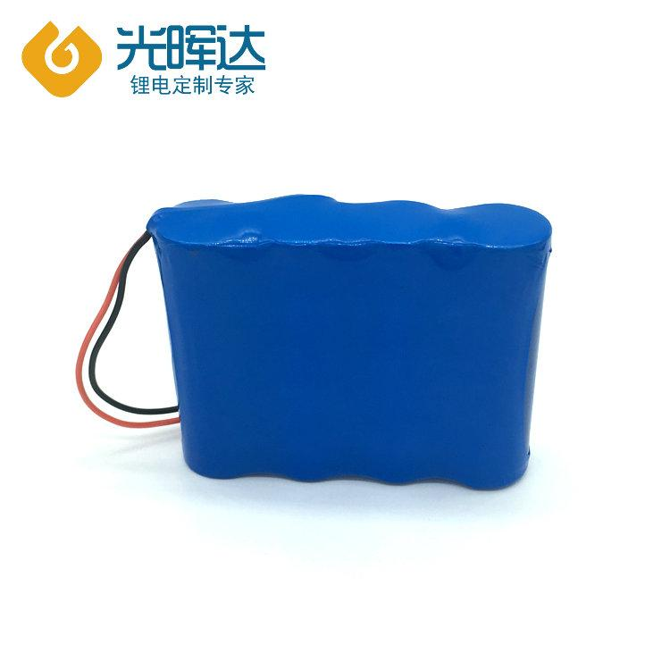 光晖达工厂加工 3.7V 18650串联并联加保护加线锂电池组 8000mAh电动玩具电池定制