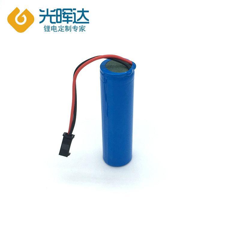 光晖达厂家生产18650锂电池组3.7V电动玩具锂电池组2000mAh POS机 小风扇充电电池定制
