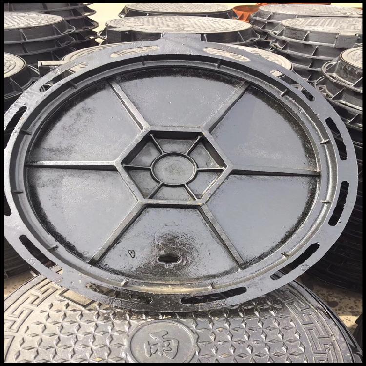 厂家批发 dn500球墨铸铁井盖 Dn700污水球墨铸铁井盖 市政球墨铸铁井盖