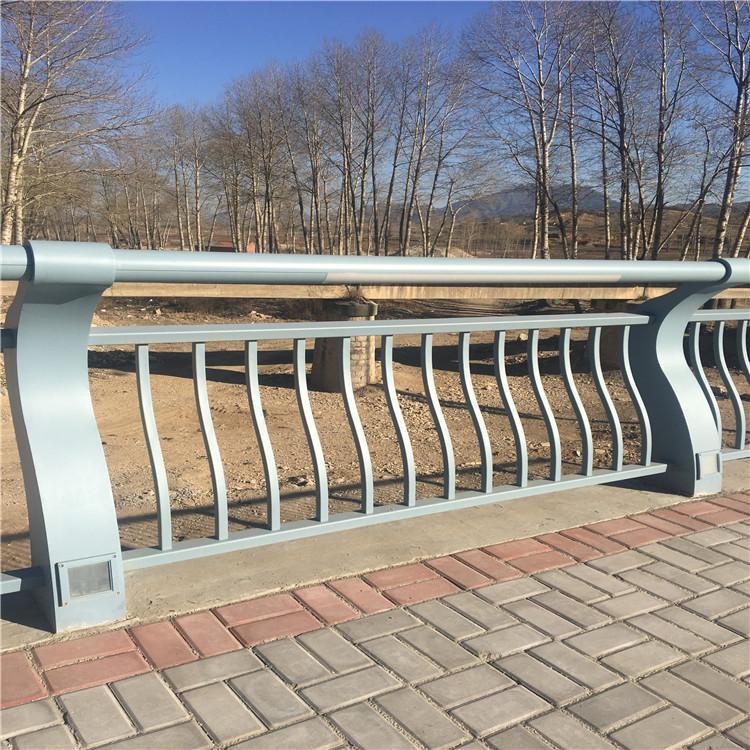 【川益】桥梁景观灯光护栏 河边夜间照明安全隔离栏 不锈钢灯光护栏厂家