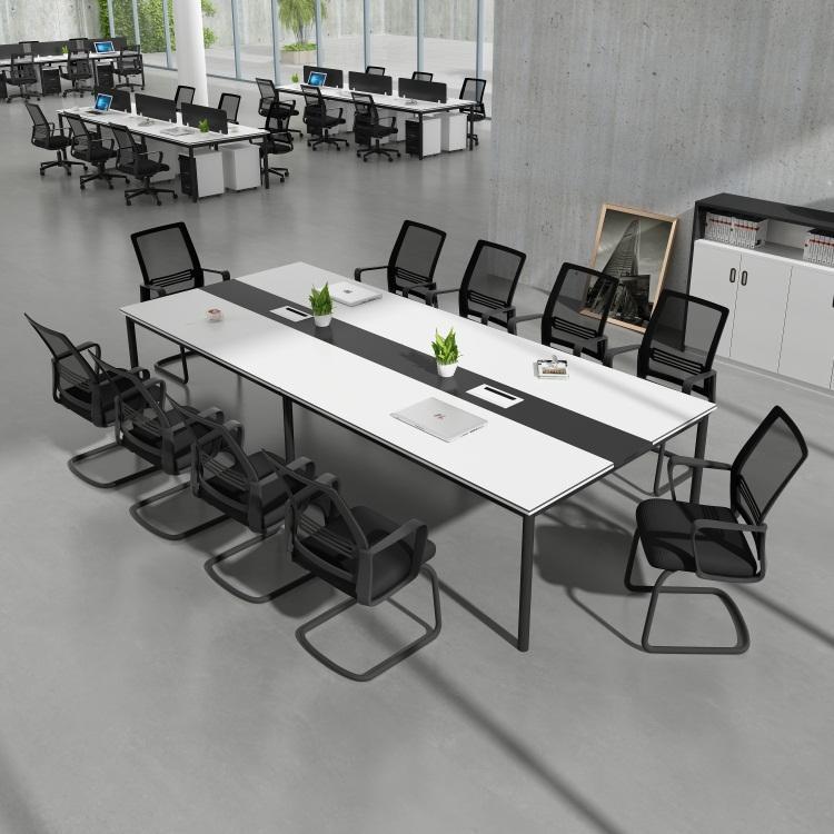 办公家具 双人会议桌椅组合 4人位职员电脑桌屏风工作位六人位-上海博蓝