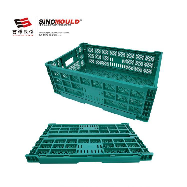 SHG折叠周转箱604022F 可堆叠水果周转箱 果蔬专用折叠箱 塑胶周转筐加厚PP