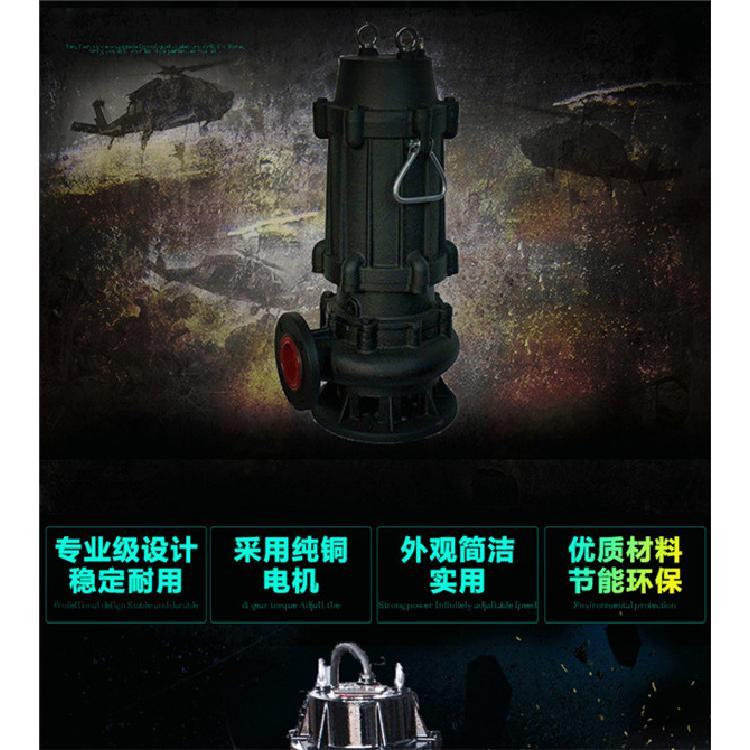 天津中蓝50WQ10-10-0.75KW自动搅匀排污泵无堵塞式排污泵