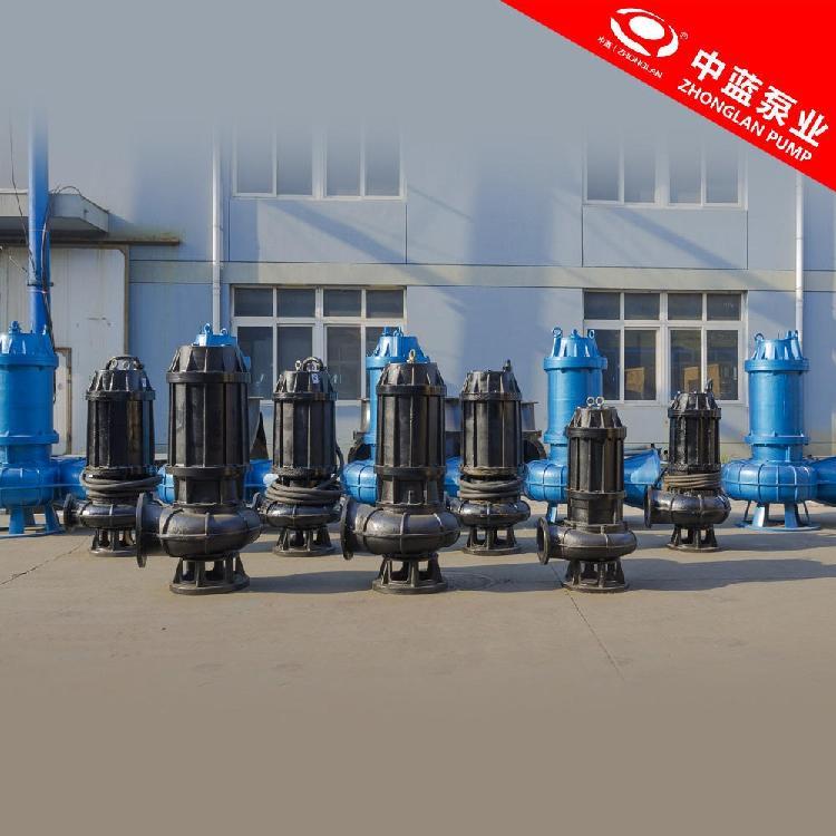 秋季污水处理厂 排放污水的潜水排污泵WQ15kw 中蓝制泵总厂
