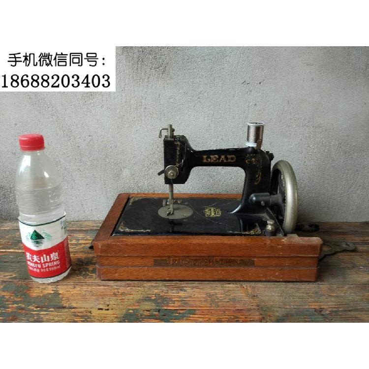 老式缝纫机 木壳缝纫机 手动缝纫机家用缝纫机 百年古董西洋