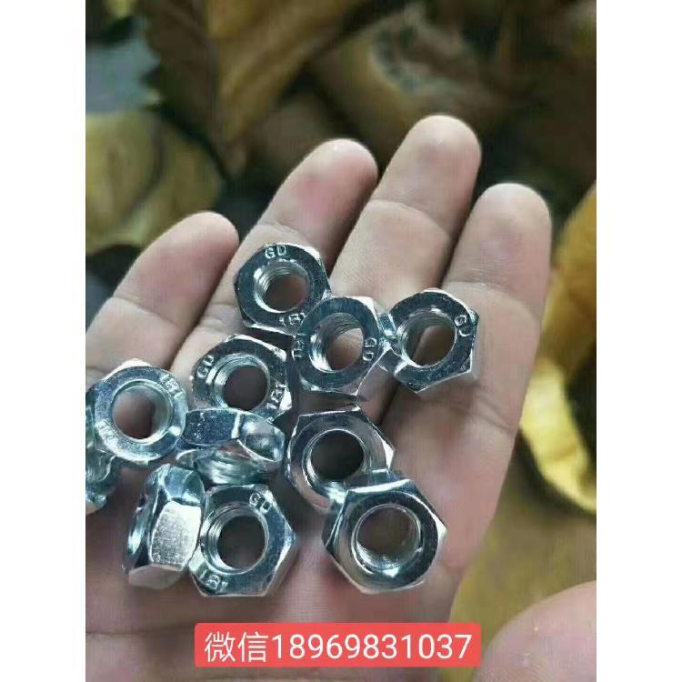 宁波盛谷高强度螺母 镀锌螺帽 m8-m48镀白锌螺母厂家直销碳钢六角罗母