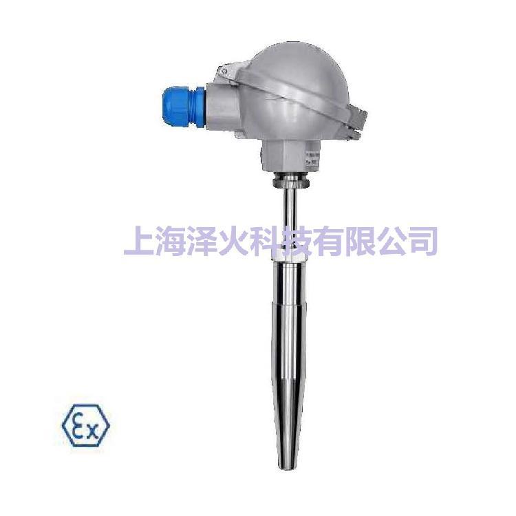 德国进口、ATEX 防爆认证、带深钻孔焊接保护套管、管道和槽罐用热电偶温度传感器T372-Ex