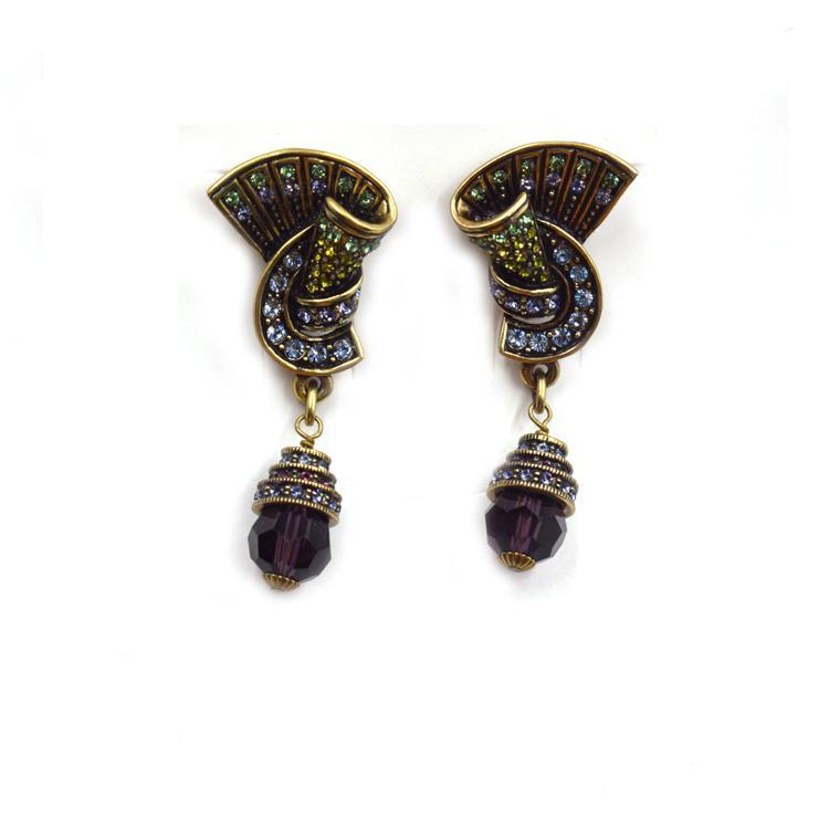 个性满钻国外热销款复古耳环 精致米珠吊坠耳饰 森豪厂家生产各种流行复古耳环