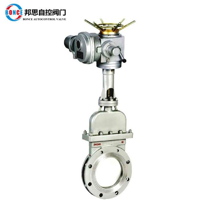 上海邦思/bonce阀门 电动陶瓷刀型闸阀 PZ973TC 刀闸阀图片