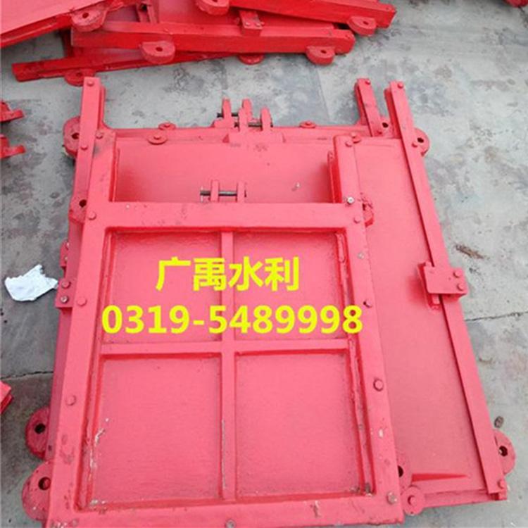 广禹提供启闭机闸门  附壁式铸铁圆闸门70*70cm