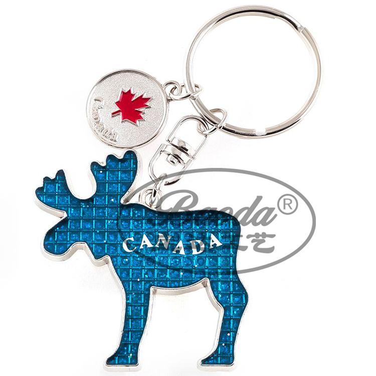 厂家供应canada加拿大枫叶创意金属钥匙扣 多伦多钥匙链旅游纪念品定制