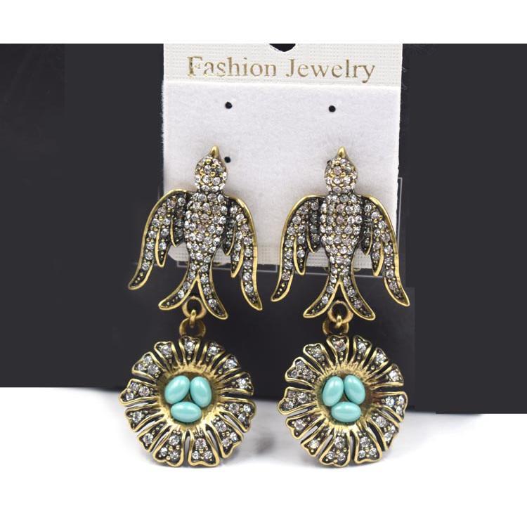 时尚热销长款燕子耳环 唯美清新可爱女式耳饰 森豪厂家定制新款燕子耳环
