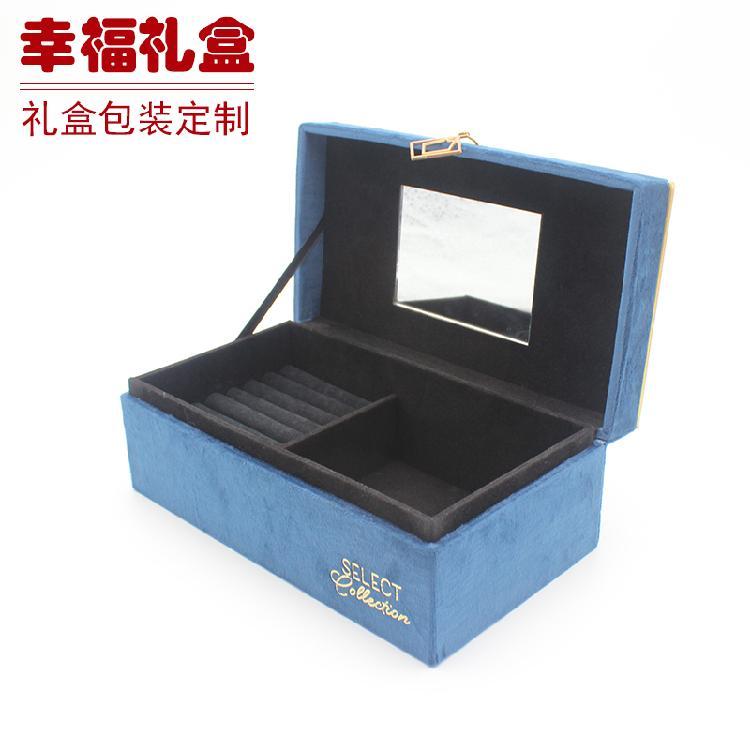 无锡收纳盒(蓝色花纹)包装盒 纸盒 布盒 皮盒 酒盒包装 定制生产