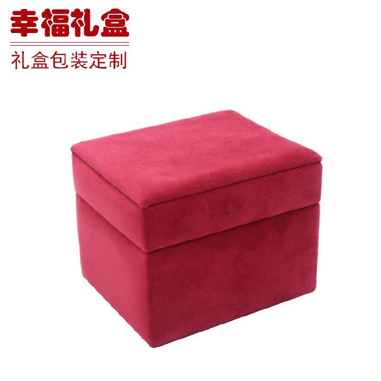 无锡红绒收纳盒 包装盒  布盒 皮盒 定制生产保健品包装盒绒布收纳盒
