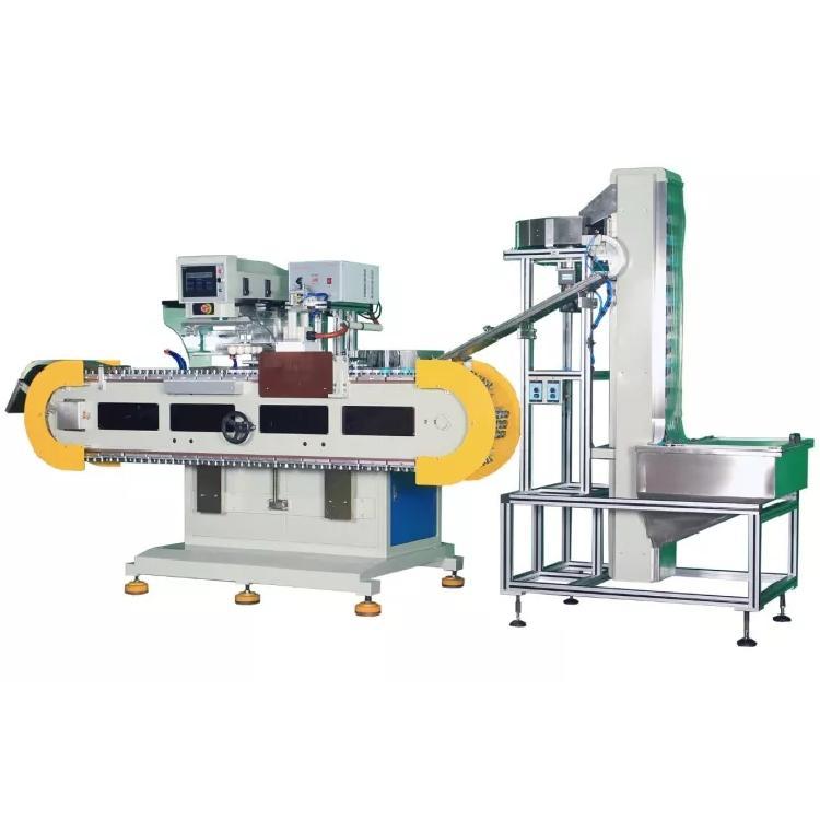 骏晖机械 瓶盖全自动移印机 自动上料电晕处理双色移印机