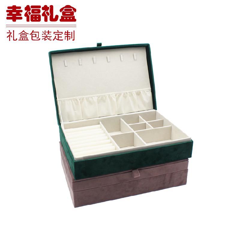 工厂直销首饰盒家居化妆盒皮革饰品收纳盒韩国珠宝箱展示盒
