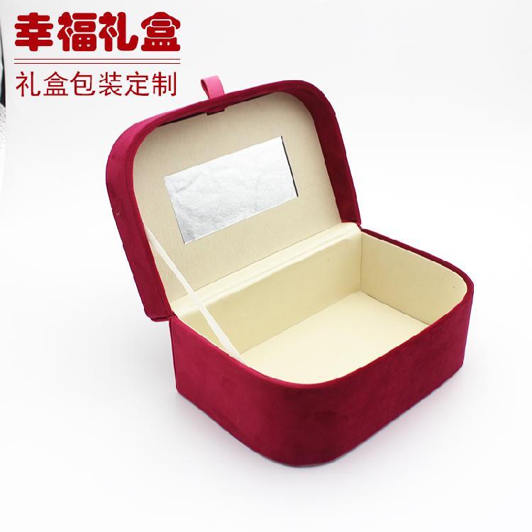 定制高档PU皮手表盒烫金印LOGO文字手表礼盒手链包装收纳盒
