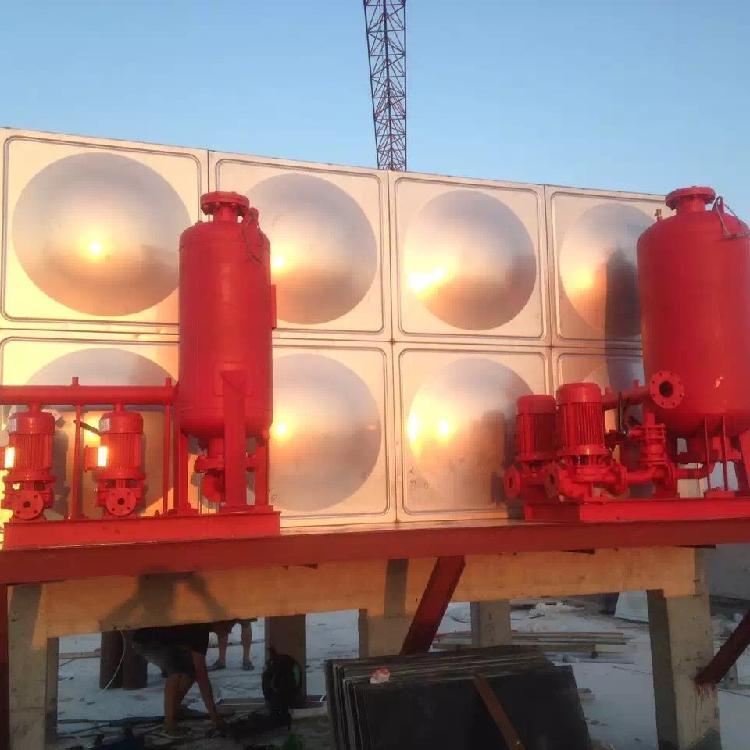 北京不锈钢水箱厂家 订做不锈钢消防水箱 高位消防水箱  屋面消防水箱