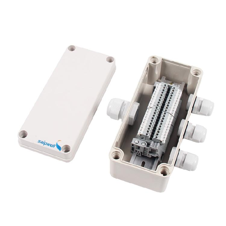 供应通信电气防水接线盒 一进三出20位UK端子防水接线盒 室外防水