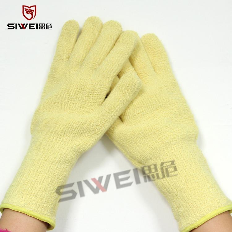 芳纶耐600度高温毛圈手套隔热阻燃防火防护手套