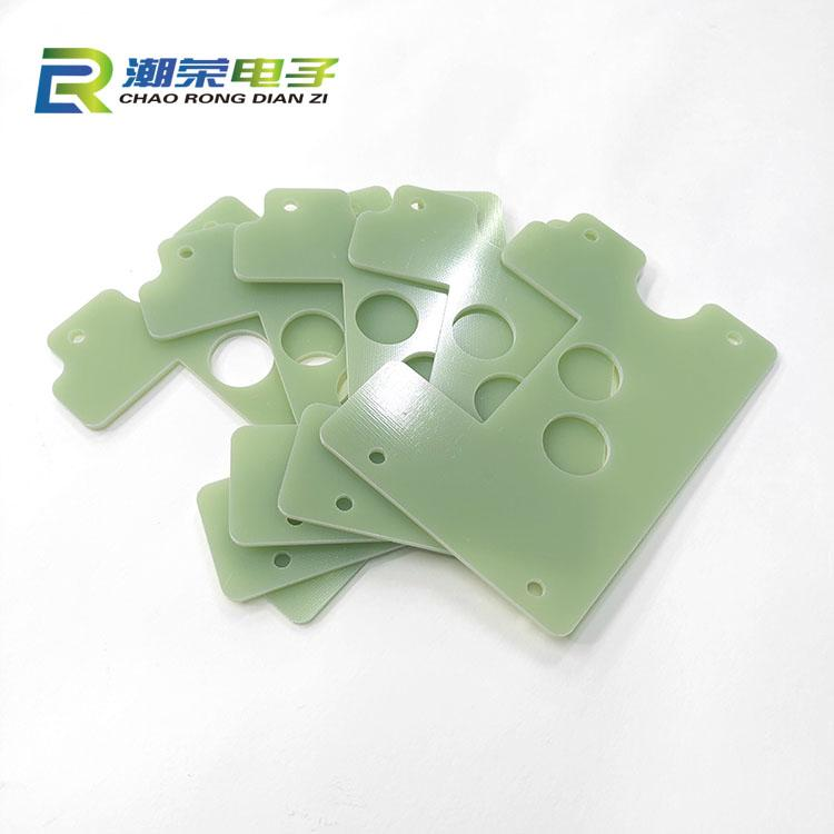 fr-4水绿色玻纤板加工定制 电机机柜绝缘板钻孔加工 隔热耐磨端子固定板加工 绝缘撑条定制厂家