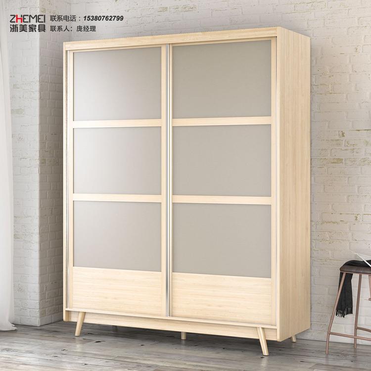 南京简约现代简易衣柜推拉门经济型实木儿童家具定制卧室衣柜
