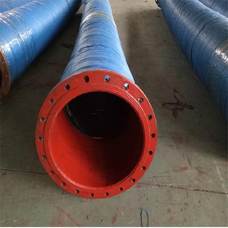 河北弘创主营矿用大口径排水胶管 法兰式吸沙胶管 钢丝输水胶管 欢迎选购