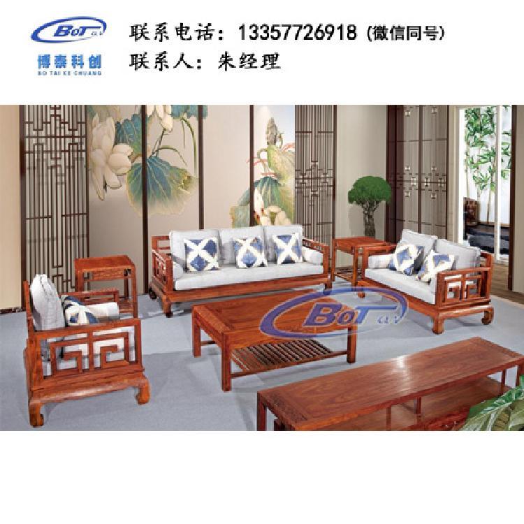 厂家直销 新中式家具 新中式实木沙发椅 祥云系列 祥云贵人三组合 刺猬紫檀 GF-07