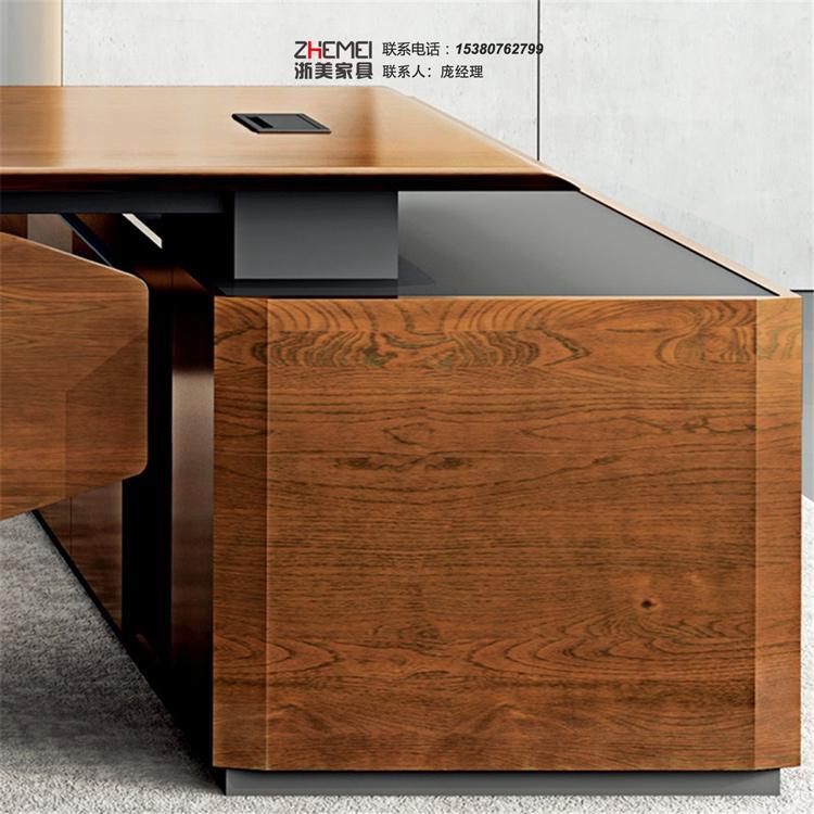 南京浙美家具老板桌办工桌简约现代单人经理桌主管桌椅组合北欧风办公桌