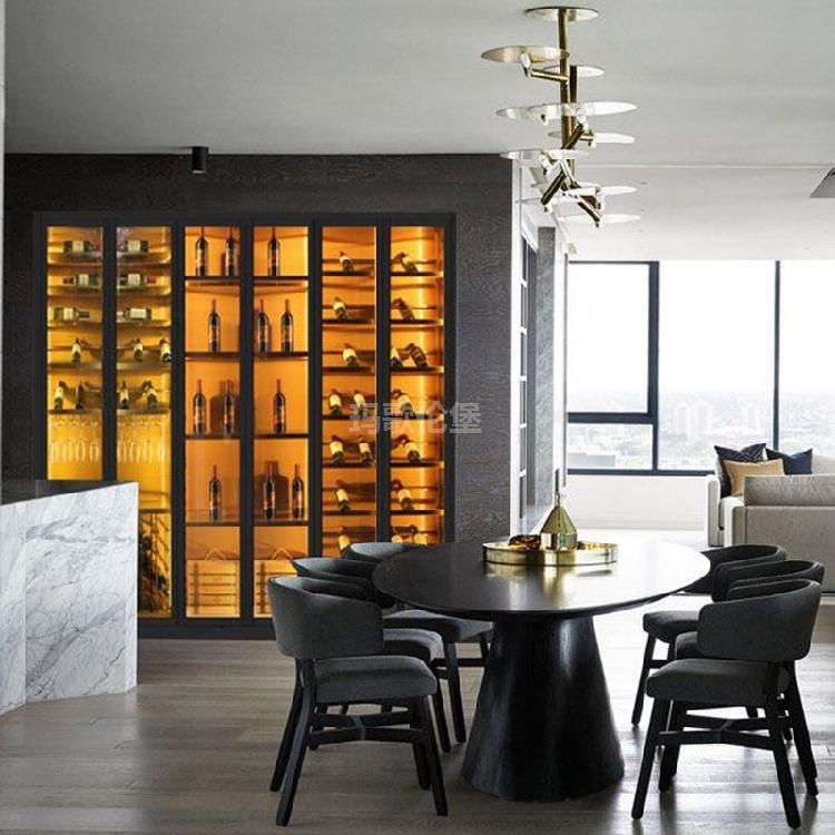 展示酒柜-不锈钢高端红酒柜-高端不锈钢酒柜定制-玛歌伦堡