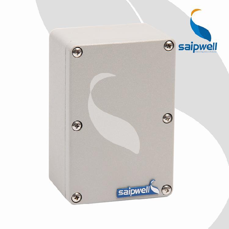 斯普威尔120*80*55防水铝盒 磨砂表面处理铸铝盒 灰色 120*80*55