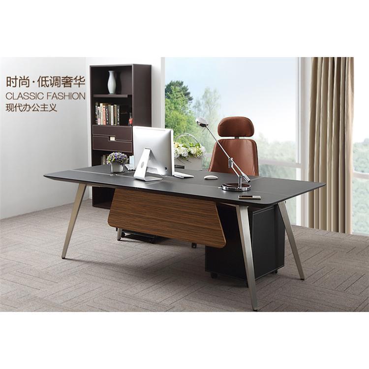 南京单人办公桌老板桌简约现代主管家具经理桌时尚班台办公桌椅组合