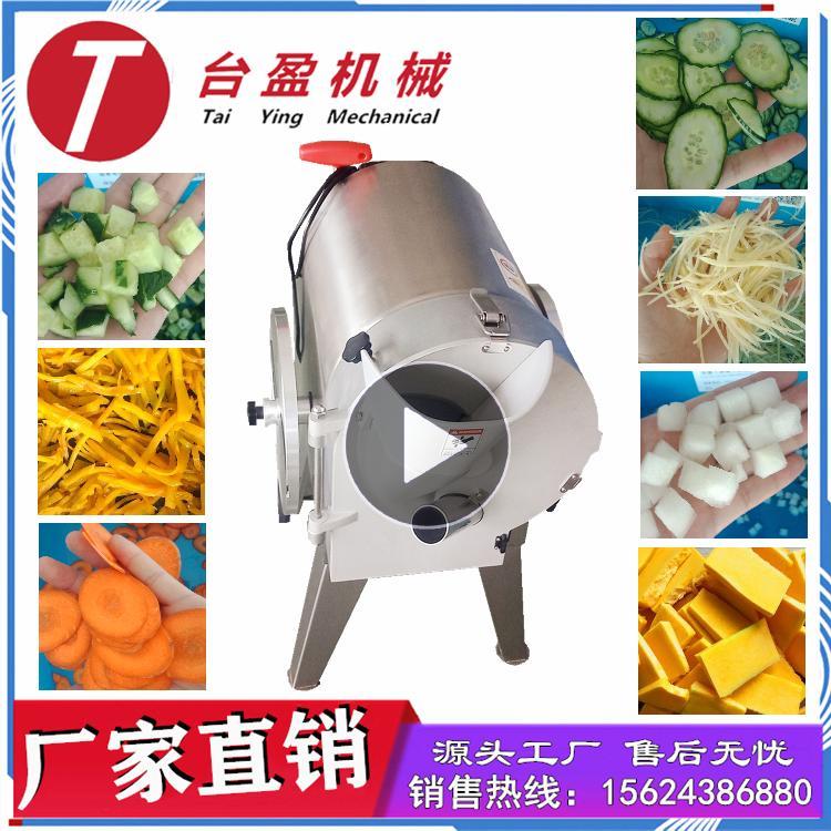 台盈食品机械 水果切片机 胡萝卜切丁机  切片机 中央厨房理想果蔬加工设备