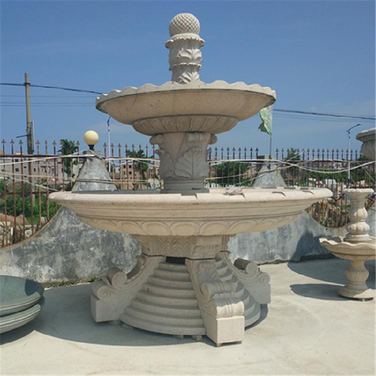 喷泉欧式小区造景水钵花岗岩大型喷泉石雕风水球流水摆件石雕