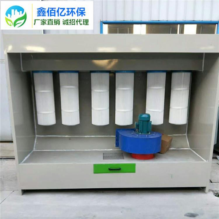 环保型高温烤漆房 喷塑粉回收机 粉尘粉末回收柜鑫佰亿