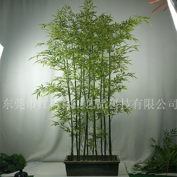 假竹子盆景-仿真竹子盆栽-仿真植物-屏风隔断装饰-家居绿植-厂家批厂