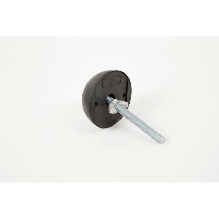 PC构件预制用带固定杆圆形橡胶球 建筑用橡胶半球 兴宽紧固件