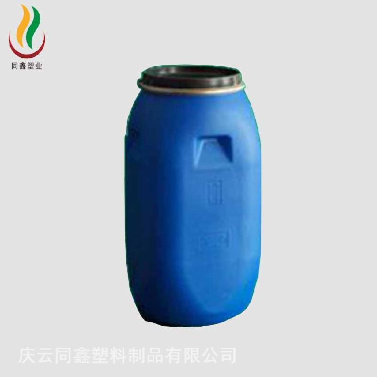 厂家生产批发100升化工塑料桶 100L周转桶 100L卡箍塑料桶铁箍桶