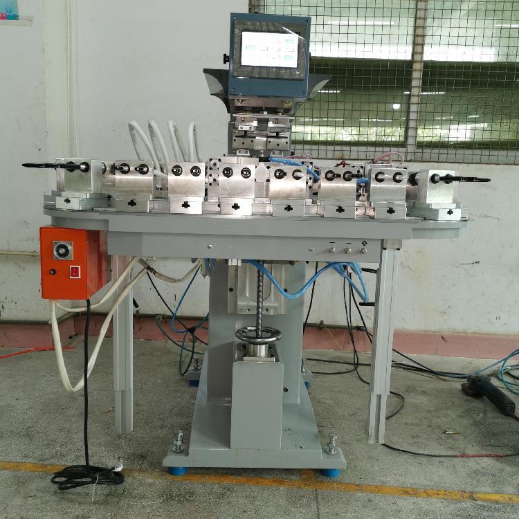 骏晖606运输带移印机 自动翻转定位双色油墨移印机