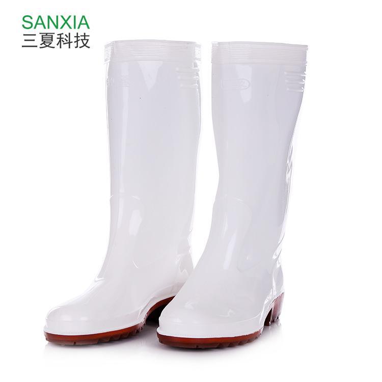 神像长筒水鞋高筒雨鞋防水防滑白色橡胶牛筋底钓鱼水鞋