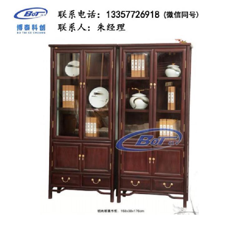 厂家直销 新中式家具 新中式玻璃柜 酸枝色系列 明尚玻璃柜 刺猬紫檀 GF-105