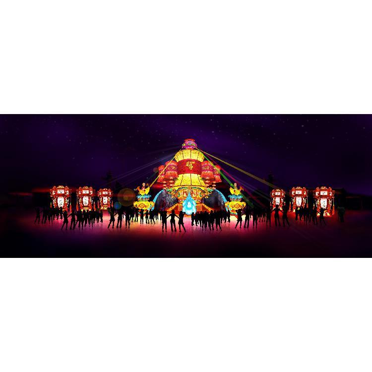 自贡花灯厂 节庆彩灯 节庆氛围灯组 灯组设计