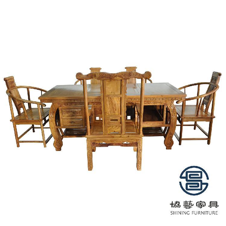 茶桌椅组合实木新中式茶桌简约现代喝茶台功夫泡茶桌茶道茶艺桌子 厂家直销 全实木茶台椅组合