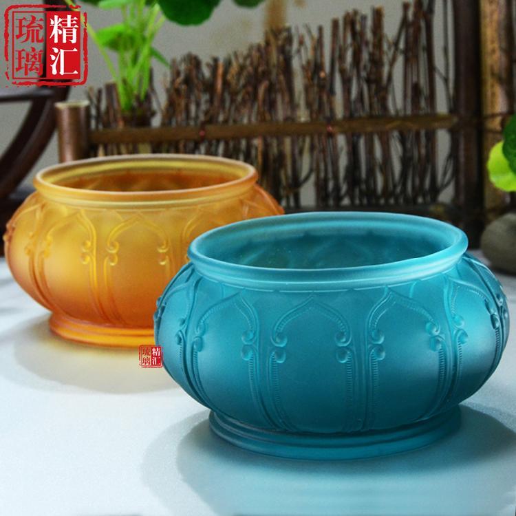 广州琉璃佛具佛教用品批发厂家 琉璃香炉 琉璃工厂 琉璃法器定制