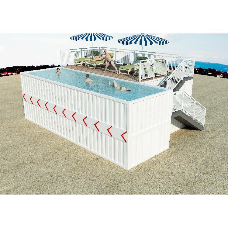 柜族集团  集装箱游泳池定制  创意箱式房屋厂家