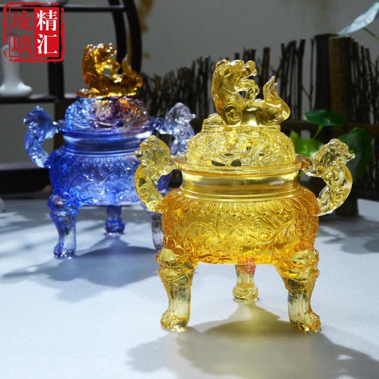 广州琉璃佛具批发厂家 琉璃香炉 盘香炉 广州琉璃工艺品厂家 琉璃定制