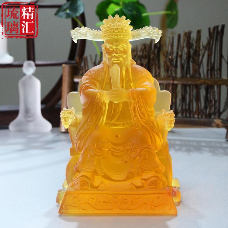 广州琉璃佛像厂家 琉璃五台山龙五爷财神 古法琉璃工厂 深圳琉璃佛像工艺品厂家